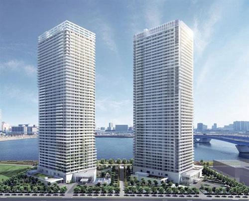 すべての折り紙 4月の折り紙 : 晴海に超高層マンション2棟 ...