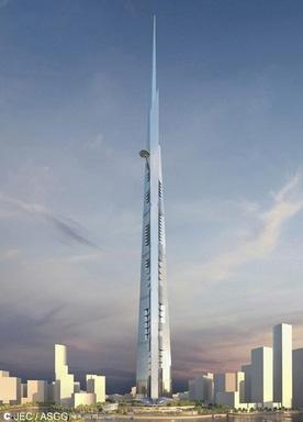 高さ1000mのキングダムタワー(Kingdom Tower)
