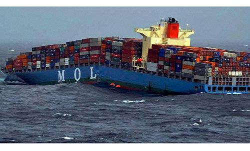 三井商船のコンテナ船