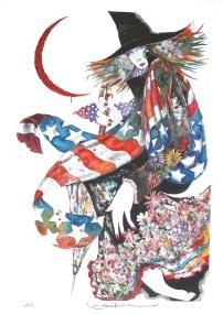 福岡市出身の名優・絵師「米倉斉加年氏」画
