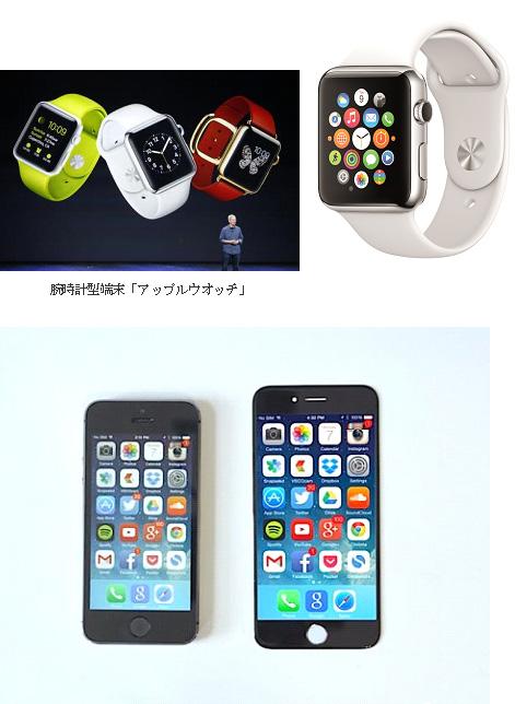 腕時計型端末「アップルウオッチ」