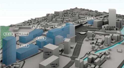 熊本駅周辺7ヘクタールの再開発