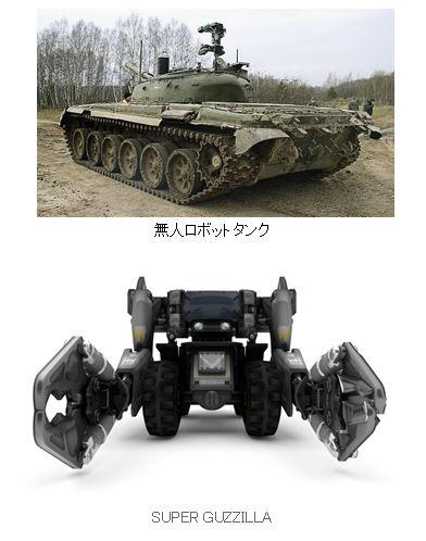 無人ロボットタンク  SUPER GUZZILLA