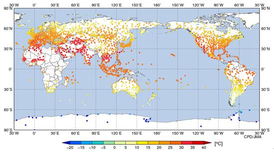 7月7日までの週平均温度(気象庁)