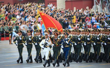 軍事パレードの練習風景 当日は中国を誇示する最新鋭の戦闘機や大陸間弾道弾などが披露されるという