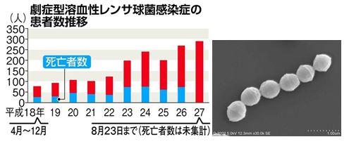 致死率30%超「人食いバクテリア」感染者過去最多 都道府県別感染者数 | 健康・医療-JC-NET(ジェイシーネット)