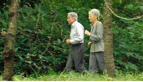 陛下と皇后様が揃ってジョギング