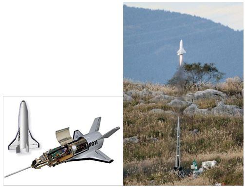 有翼ロケット発射実験成功