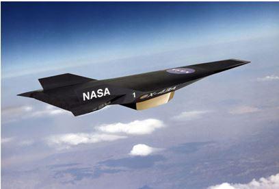 <マッハ9.6実現のスクラムジェットエンジン搭載NASA X-43>