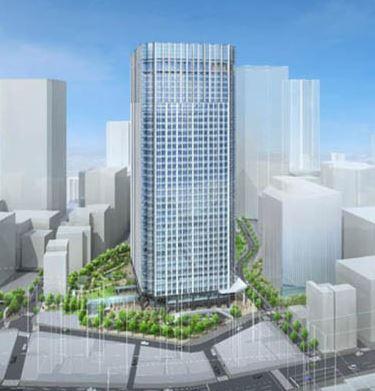 森ビルトラストシティワールドゲートの完成予想図