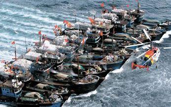 中国漁船団