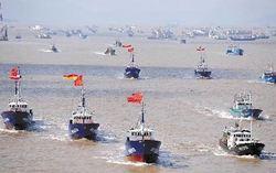 尖閣国有化直後に動いた中国漁船団。のサムネイル画像